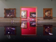 water flood house paintings photography