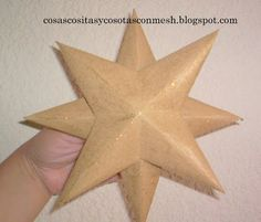 como hacer una estrella de papel grande paso a paso : cositasconmesh