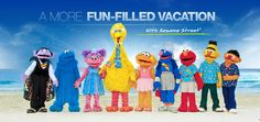 Sesame Street® at Beaches Resorts  Spend your vacation with Elmo, Super Grover and Friends! Children all around the world love Sesame Street®. And, as a proud sponsor, Beaches Resorts are the only Caribbean family beach resort destinations where you'll find a colorful cast of characters that includes: Elmo, Cookie Monster, Grover, Zoe, Bert & Ernie, Abby Cadabby, The Count, Big Bird and, everyone's favorite superhero - Super Grover!