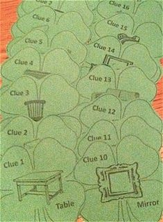 St. Patrick's Day Scavenger Hunt. Two templates here-- one for older kids, one for younger kids.
