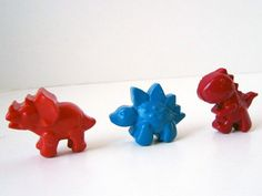 Dinosaur crayons - made from leftover crayon stubs collected at the end of the school year!