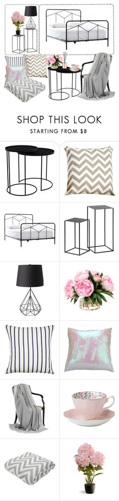 """grey&white&black"" by alinadoroshenko ❤ liked on Polyvore featuring interior, interiors, interior design, home, home decor, interior decorating, Notre Monde, Kate Spade, Royal Albert and Home Decorators Collection"