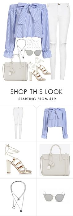 """Untitled#4225"" by fashionnfacts ❤ liked on Polyvore featuring Valentino, Yves Saint Laurent, Maison Margiela, GANT and ASOS"