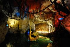 The Venus Grotto of Linderhof Castle, seen on Sept. 21, 2008. The room was built to illustrate the first act of Richard Wagners . Electrical wiring and lighting (a novelty in the 1880s) were used to change the colorful scenery and set differing moods.