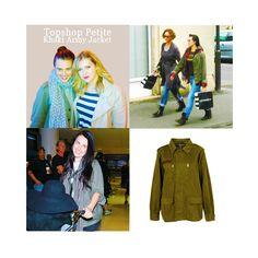 Katie McGrath - Topshop Petite Khaki Army Jacket