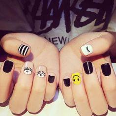Discover the 10 most popular nail polish colors of all time! - My Nails Cute Nail Art Designs, Punk Nails, My Nails, Spring Nails, Summer Nails, Perfect Nails, Nail Polish Colors, Short Nails, Nail Arts