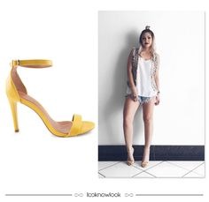 Sandália de tiras na cor amarela #moda #look #outfit #calçados #sandália #shoes #sotd #ootd #shop #lojaonline #ecommerce #lnl #looknowlook