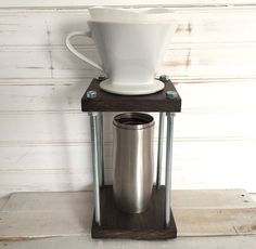 Pour Over Coffee Stand - Weathered Kona Stain