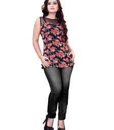 Buy multicolor Color Georgette Casual Wear Printed Kurti kurtas-and-kurti online