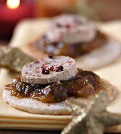Aperitivo fácil de Navidad - Tosta de Foie gras con cebolla confitada - Especial Navidad 2011 - 2012 - Especiales - Charhadas.com
