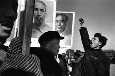 Demonstration to protest against the US military intervention in North Vietnam, China, 1965 by Marc Riboud