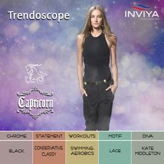Chic and amazing, a #Capricorn diva knows how to carry her! #INVIYA® loves the #Classic Capricorn #Trendoscope