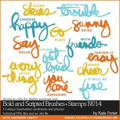 Bold and Scripted Brushes and Stamps No. 14 - Photoshop Brushes