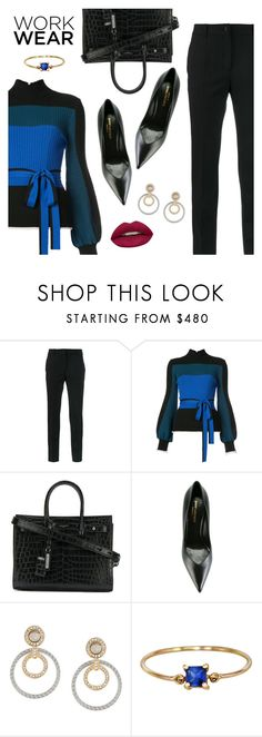 """Work Wear"" by dressedbyrose ❤ liked on Polyvore featuring Dolce&Gabbana, Roksanda, Yves Saint Laurent, Versace, Huda Beauty, WorkWear, ootd and polyvoreeditorial"
