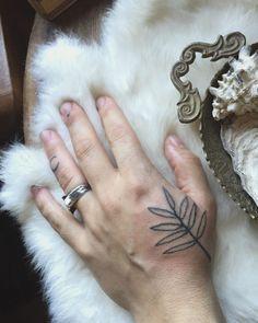Handpoked fern ~ Stick and Poke Tattoo Kit