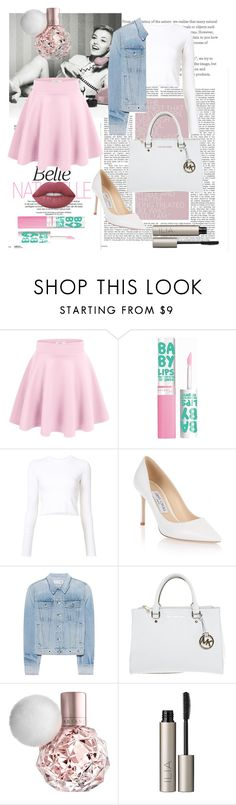 """Baby pink"" by emmalawleyxo ❤ liked on Polyvore featuring Maybelline, Proenza Schouler, Jimmy Choo, rag & bone, Michael Kors, Ilia and Lime Crime"