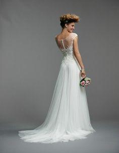 Delicate wedding dress