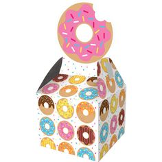 8 CT Donut Party Birthday Favor Boxes/Donut Theme Party Favors/ Donut Party Gift Boxes/ Donut Party Favor Ideas by FancyCelebration on Etsy https://www.etsy.com/listing/501662638/8-ct-donut-party-birthday-favor
