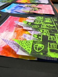 What you see here is my final installment of printmaking lessons for the firsties thruthirdz. We started our printmaking units many moons...
