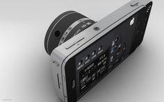 Kun på tegnebordet, men dette MÅ JO VÆRE FREMTIDENS kamera - kamera-deksel sammen med en iPhone ... sjekk ut alle bildene, dette ser UTROLIG bra ut!