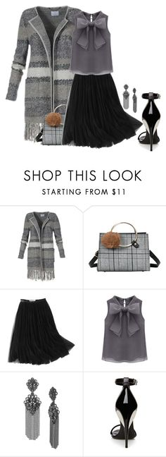 """Long Jacket"" by jakenpink ❤ liked on Polyvore featuring WithChic, Marchesa and La Perla"