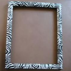 Zebra duct tape around a picture frame..