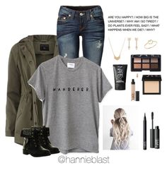 """L A Y O U T"" by hannieblast ❤ liked on Polyvore featuring Dorothy Perkins, True Religion, NARS Cosmetics, Jules Smith, Essentia By Love Lily Rose, Refresh and ZoÃ« Chicco"