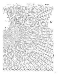Crochet Skirts Crochet Top Crochet Clothes Pineapple Crochet Crochet Cardigan Hobbies And Crafts Amigurumi Crochet Patterns Elsa White top on the basis of a napkin with a pattern Filet Crochet, T-shirt Au Crochet, Cardigan Au Crochet, Pull Crochet, Mode Crochet, Crochet Motifs, Crochet Shirt, Crochet Diagram, Crochet Woman