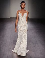 Sheath Lace V-Neck Gown