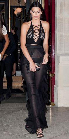 Kendall Jenner jet-setted to Paris to lend Balmain designer Olivier Rousteing her support. #celebrity #kendalljenner