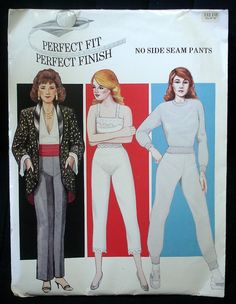 "Lenoras Perfect Fit Perfect Finish No Side Seam Pants pattern hip sizes 45"" to 55"", pant liners, slacks, sweat pants, by FindersOfKeepers, $5.00 via Etsy 11250"