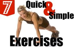 7 Simple Exercises When You Have No Time to Work Out