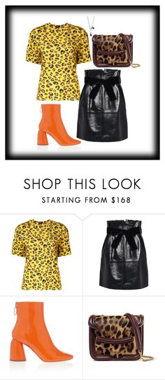 """""""Inspiration: Orange Bootie"""" by skeletorsmom ❤ liked on Polyvore featuring G.V.G.V., Alberta Ferretti, E L L E R Y, Alexander McQueen and Cast of Vices"""