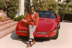 The great and wonderful Sammy posing with his car - undated - web source -MR