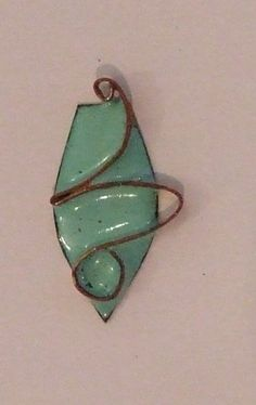 medal in turquoise enamel on copper