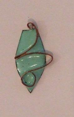 medal in turquoise enamel on copper