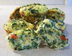 Vegetable Quiche cups - so yummy and super healthy! Only need a muffin tin and foil baking cups -