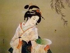 高畠 華宵 [夕蛍]-昭和10 Kashou Takabatake,1935.