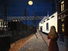 Paul Delvaux, Solitude, 1956