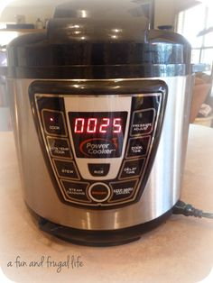 Electric Pressure Cooker from A Fun and Frugal Life