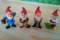 4 Alte Ü-Ei Figuren Blumentopfzwerge von 1988/89