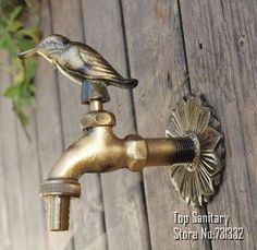 antique Outdoor Hose Spigot in the garden Wall Mounted Antique