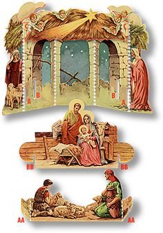 Papermau uploaded this image to 'christmas'. See the album on Photobucket.Mauther Papermau uploaded this image to 'christmas'. See the album on Photobucket. Christmas Nativity Scene, Miniature Christmas, Christmas Villages, Christmas Paper, Christmas Projects, All Things Christmas, Christmas Time, Vintage Christmas, Nativity Scenes