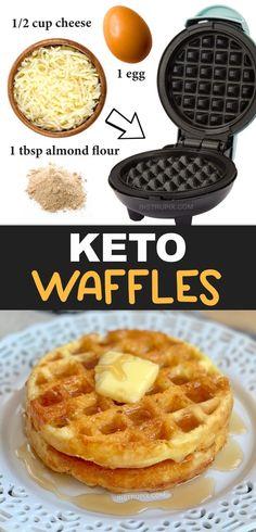 Breakfast Waffles, Low Carb Breakfast, Breakfast Recipes, Breakfast Ideas, Dinner Recipes, Breakfast Casserole, Breakfast Crockpot, Breakfast Gravy, Breakfast Quiche