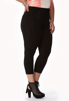 Basic Capri Leggings | FOREVER 21 - 2074712971 best leggings ever in the world of ever! For short girls like me. Size up and they are perfect!
