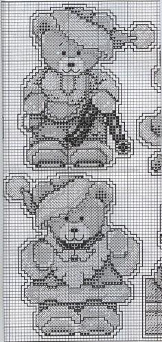 Little Bears Plastic Canvas Ornaments
