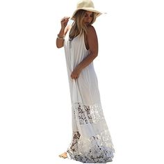 Willtoo 2016 hot sell  Women Lace Long Maxi Evening Party Beach Dress US Size10 *** You can find out more details at the link of the image.