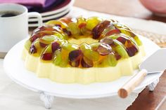 Colorful fresh grapes add a delicious fresh fruit layer to this creamy lemon dessert!