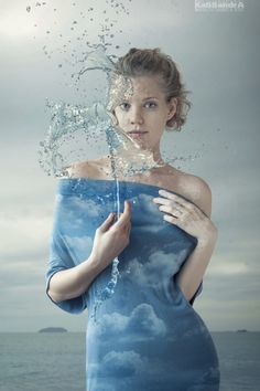 ♂ Dream imagination surrealism lady in blue Stunning visions of Kassandra