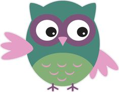 Green And Pink Owl Owls Bumper Sticker Decal Vinyl Stickers Decals Pink Owl, Applique Patterns, Bumper Stickers, Tweety, Owls, Pikachu, Decals, Green, Cute
